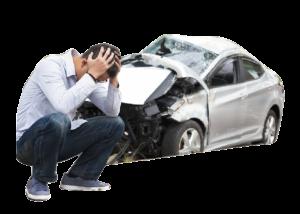 事故車と人